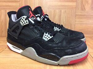 RARE-Nike-Air-Jordan-4-IV-Retro-Bred-Black-Cement-Fire-Red-Sz-9-5-308497-089