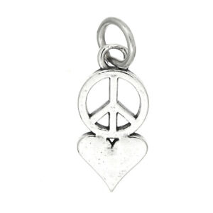 STERLING SILVER PEACE AND LOVE CHARM//PENDANT