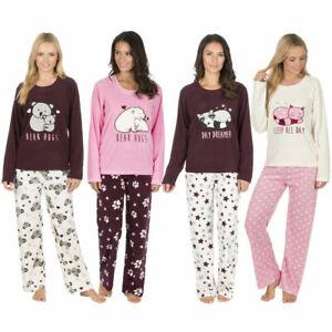 0e6d695b71d9 Image is loading Forever-Dreaming-Ladies-Novelty-Microfleece-Pyjama-Set -Animal-