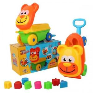 Baby Toys Shape Sorter Suitcase Teach Time Shape and Colours Toddler Toy New