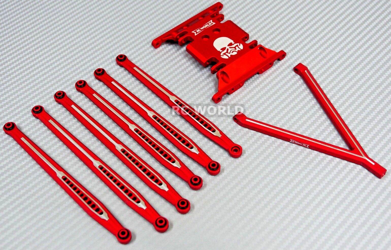 For AXIAL SCX10 Metal SKID PLATE + davanti &  Rear METAL TRAILING ARMS + Hardware  esclusivo