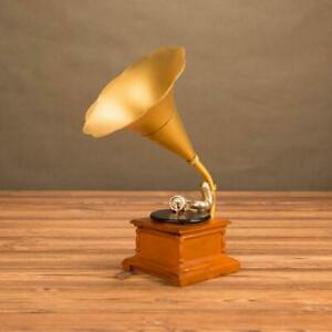 Decorative-Gramophone-Metal-Model-Home-Decor-Ornament-Retro-Props-Craft
