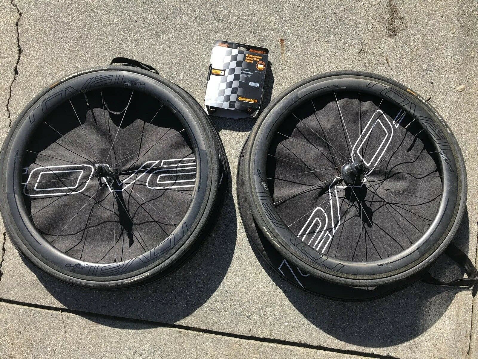 Roval CLX 50 Tubular  Wheelset CeramicSpeed + 3 Continental Competition Tires  the latest models