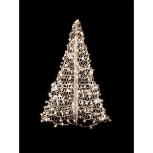 Details About Artificial Christmas Tree White Frame Pre Lit Incandescent Indoor Outdoor 4 Ft