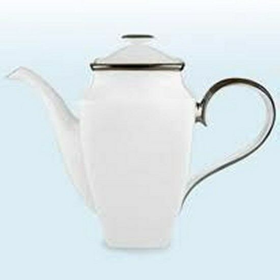 Lenox Solitaire blanc, Square coffee pot-NEUF -