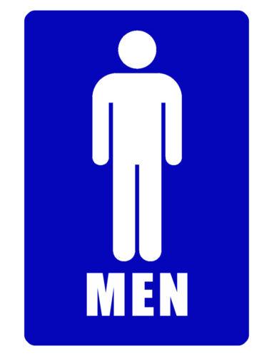 Bathroom Sign..MENS ROOM SIGN Durable Aluminum NO RUST SIGN FULL COLOR D#143