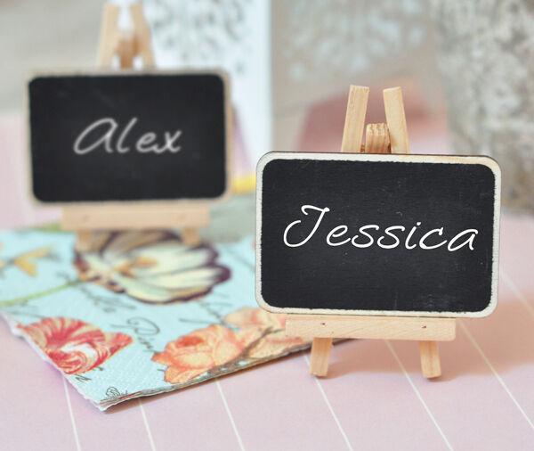 Chalkboard Easel Birthday, Baby, Bridal Shower, Wedding Favor Place Card Holder