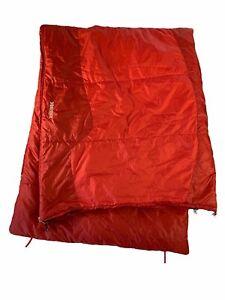 Marmot Trestles 40 Sleeping Bag Stash Pocket Red Black Camping