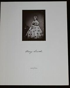 Mary Todd Lincoln First Lady President Mathew Brady Glass Plate Contact Print