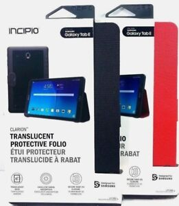 low priced 10437 f22c6 Details about Incipio Clarion Hybrid Folio Case W/ Clasp Closure for  Samsung Galaxy Tab E 9.6