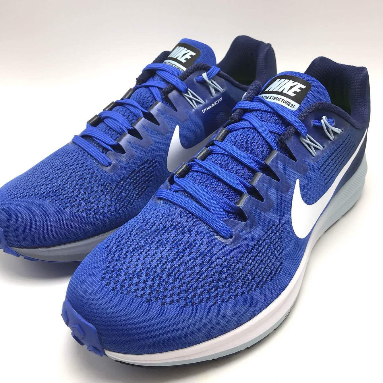 Nike Air Zoom Structure 21 Men's Running Mega bluee White-Binary bluee 904695-402