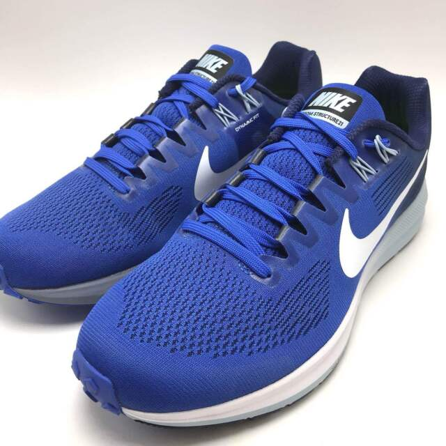 best service b3405 b31cf Nike Air Zoom Structure 21 Men s Running Mega Blue White-Binary Blue 904695-