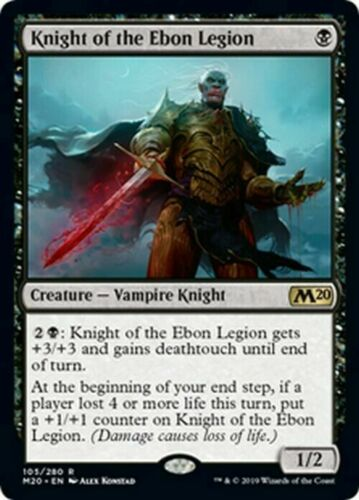 M//NM Pack Fresh Knight of the Ebon Legion x4 MTG Core 2020 M20