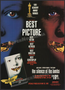THE SILENCE OF THE LAMBS__Original 1992 Trade Print AD / ADVERT__ANTHONY HOPKINS