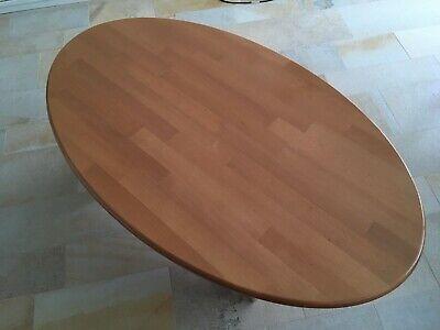 Bescheiden Tisch Beistelltisch Couchtisch Holztisch Oval, 60er, 70er