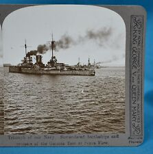 WW1 Stereoview British Navy Triumph Scapa Flow German Fleet Realistic Travels