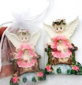 3dc33d9e9 24 BAPTISM FAVORS Pink ANGEL RECUERDOS PARA BAUTIZO PRIMERA COMUNIÓN ...