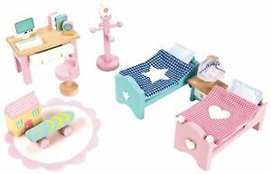 Le-Toy-Van-DOLL-HOUSE-DAISYLANE-CHILDREN-039-S-BEDROOM-Wooden-Toy-BNIP