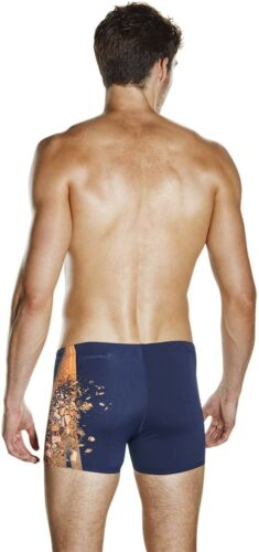 Blue New Men/'s Speedo Aplha Blast Aqua Shorts Swimming Trunks Swim Briefs