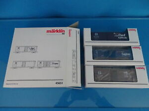 Marklin-45651-US-40-ft-Box-C-ar-Set-034-Santa-Fe-034