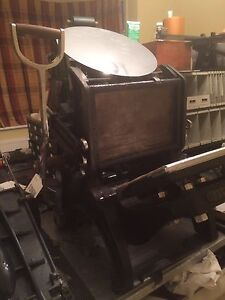 Details about Peerless Platen Printing Press Letterpress Cropper Charlton  And Co