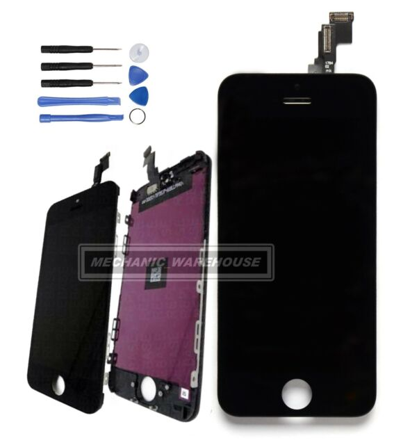 For Apple iPhone 5C LCD Touch Screen Display & Digitizer Frame Replacement Black
