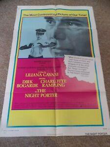 "THE NIGHT PORTER(1974)DIRK BOGARDE ORIGINAL ONE SHEET POSTER 27""BY41"""
