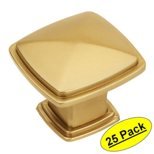 *25 Pack* Cosmas Cabinet Hardware Gold Champagne Square Knobs #4391GC