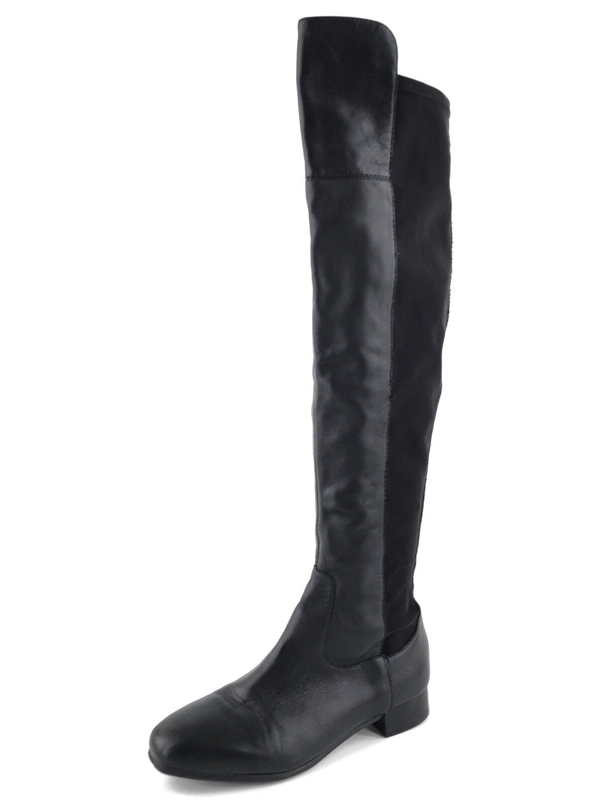 Louise Et Cie Andora Black Leather Over The Knee Stretch Boots Womens Size 5 M *