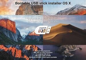USB-stick-macOS-X-Yosemite-El-Capitan-Sierra-High-Sierra-Mojave-Catalina