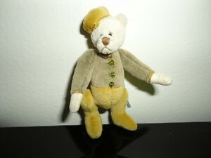 Miniature Bellhop Sad Mohair Bear Artist One of a Kind Jointed Handmade 3in. New