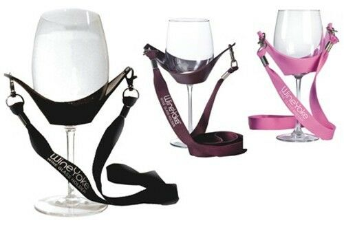 Wine Yoke Lanyard Wine Glass Holder, Wine Party Hand Free Wine Glass Necklace