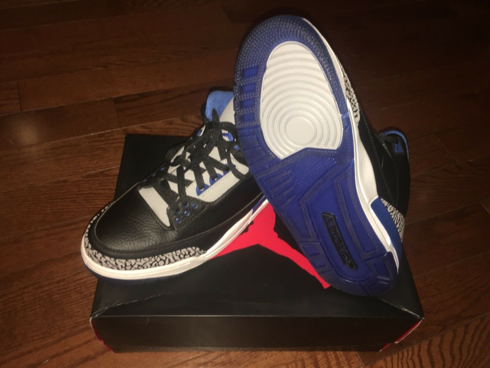 Air Jordan 3 (III) Sport bluee - Size 10.5 - 100% Authentic - New with Box