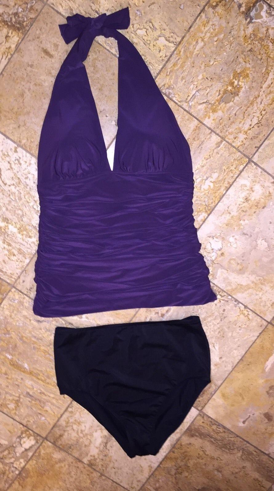 NWT  Magicsuit Miraclesuit Traci Tummy Control Tankini Swimsuit Set Womens 8