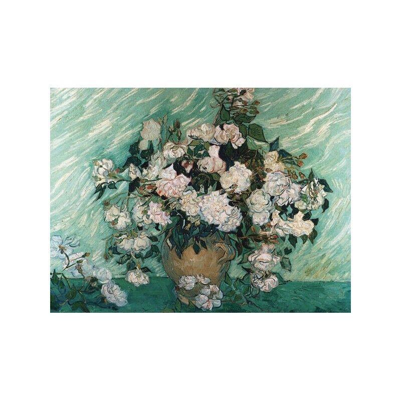 Quadro su Tela con Telaio Vincent Van Gogh rosas rosas rosas 95f56b