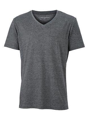 Herren TShirt mit V-Ausschnitt Kurzarm Baumwollmischung Shirt 170 g/m² S -3XL