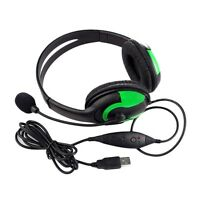 Wired Headset Headphone Earphone Microphone For Ps3 Gaming Pc Chat Ww