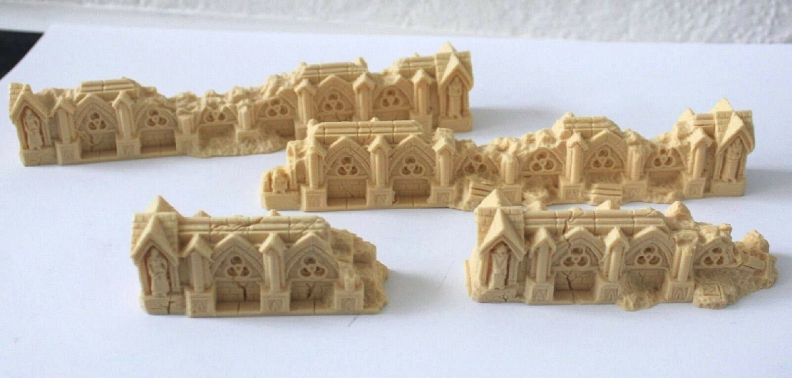 ARMORCAST - Gothic Ruined Walls  x 2 pieces - Wargames Scenery & Terrain