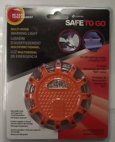 Superex 16-724 Automotive Multi-Mode Warning Emergency Light Magnet /& Hook