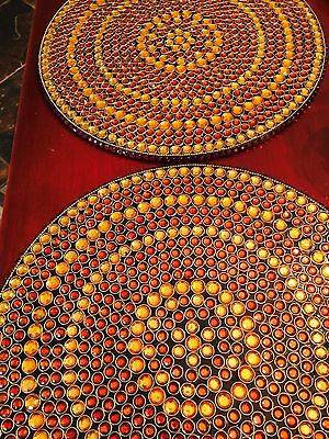 KIM SEYBERT Jeweled Round Placemats Set of 6