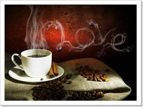 G Steaming Cup Of Coffee Art Print Home Decor Wall Art Poster