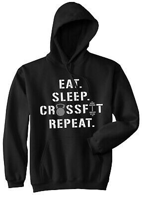 Lifting Trainer Gym Eat Sleep Crossfit Repeat T-shirt Workout