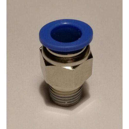 Espiga de Empuje Ajuste Macho Aire Neumático Accesorios 1//4 BSPT a montaje 10 mm 000593