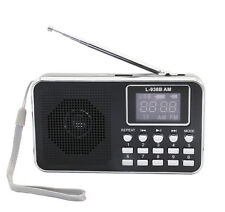Mini Digital AM FM Portable Radio MP3 Music Speaker Player  with  TF USB Disk