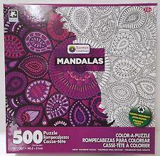 PU KARMIN® 500pc COLOR•A•PUZZLE Adult MANDALAS Coloring PUZZLE Jig Saw 500 PC