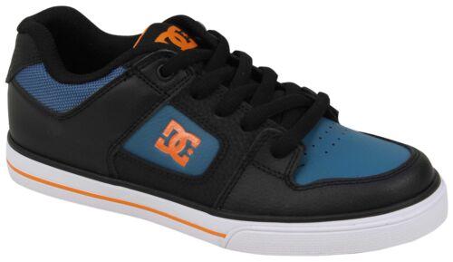 DC Boy/'s Pure Chaussure-Noir//Orange//Bleu-Neuf