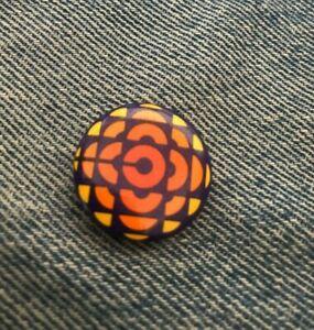 "Devo Badge Pin Pinback Vintage 1/"" Round Concert Tour 384 Promo New Wave"