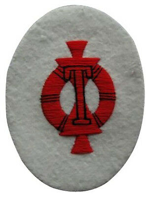WW2 Repro Patch Navy White New Kriegsmarine Gun Target Specialist Trade Badge
