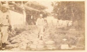 Vintage-Baseball-Real-Photo-players-outside-of-stadium-1930-039-s-5x3