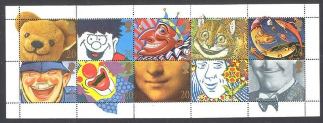Great Britain 1990 Smiles Booklet pane Sc# 1313a NH